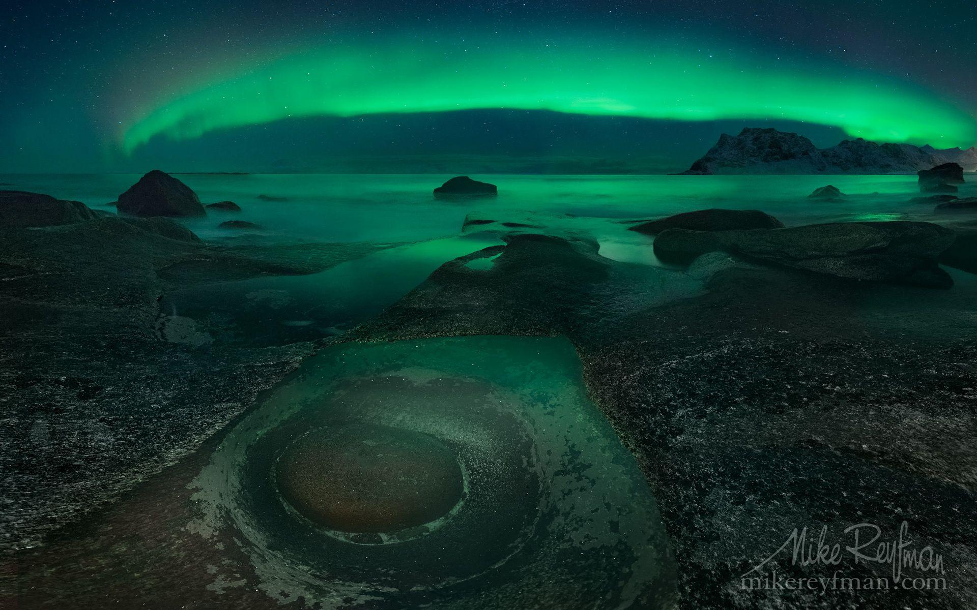 The Eye of Uttakleiv - Uttakleiv Beach, Lofoten Islands Nordland, Norway. Photography by Mike Reyfman