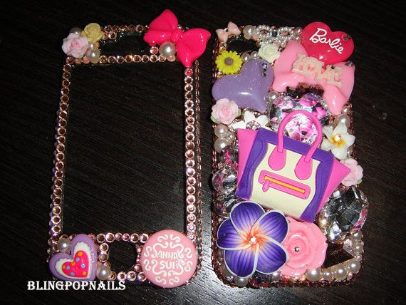Bling purse  iPhone 4S iphone 5 made with by blingpopnails on Etsy, $69.99