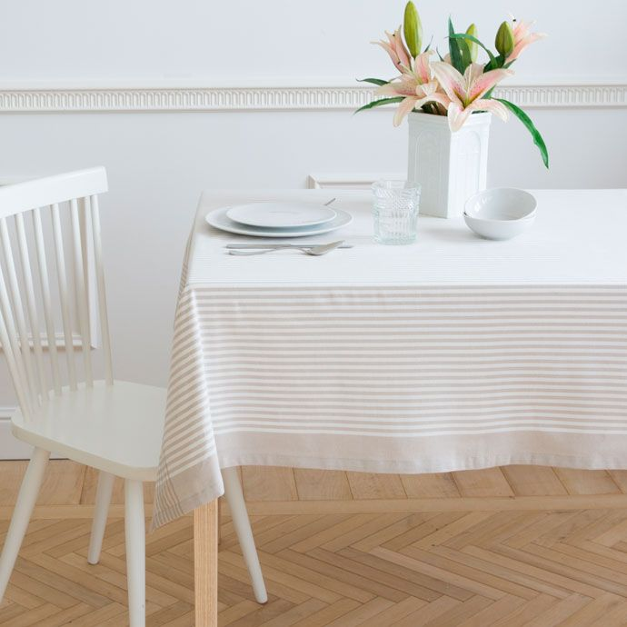 20 mantel algod n hilo tintado manteles y servilletas for Zara home manteles mesa