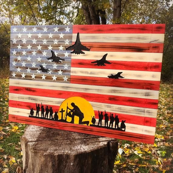 Rustic American Flag US Flag Some Gave All All Gave Some Wood Flag Wood American Flag Wooden Flag Rustic Flag Rustic Decor #americanflag