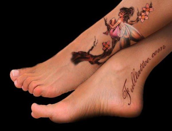 Photo of Fairy Foot Tattoo steht auf Platz 1 der Liste Foot Tattoo Placement Desi …