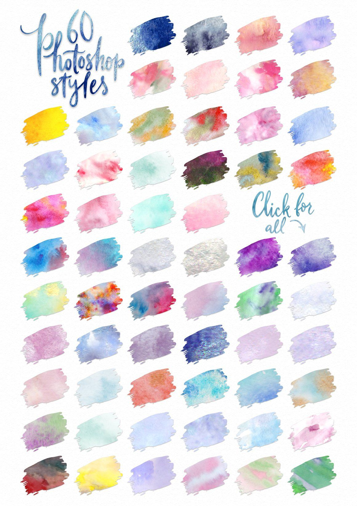 Watercolor World Photoshop Kit Amazing Unique Apparel Great