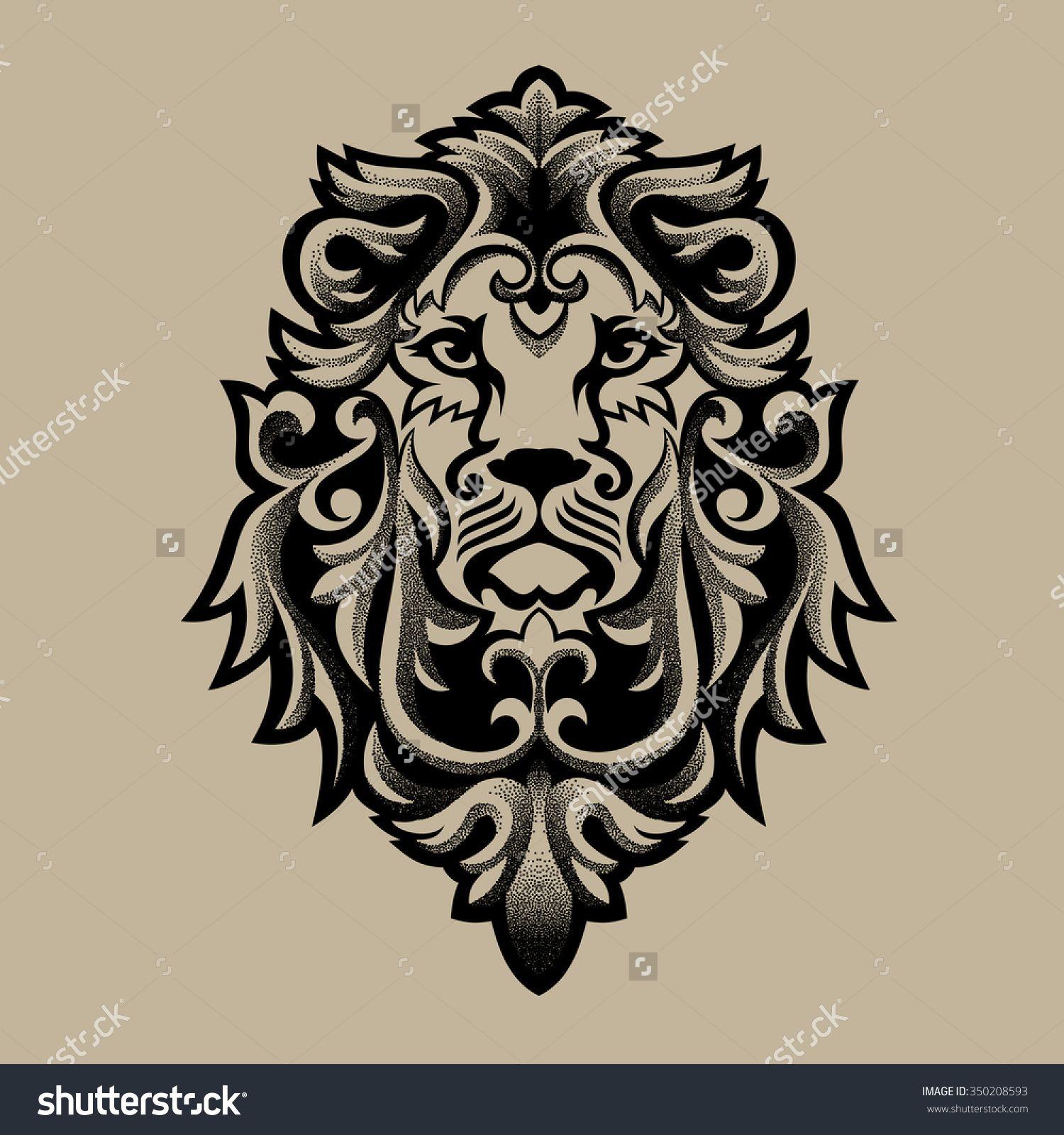 Rasta Lion Tribal Tattoo Pin Haile Selassie Lion Judah