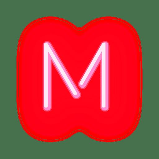Letterhead Red Neon Letter M Ad Sponsored Ad Red Neon Letter Letterhead Neon Alphabet Letters Images Lettering