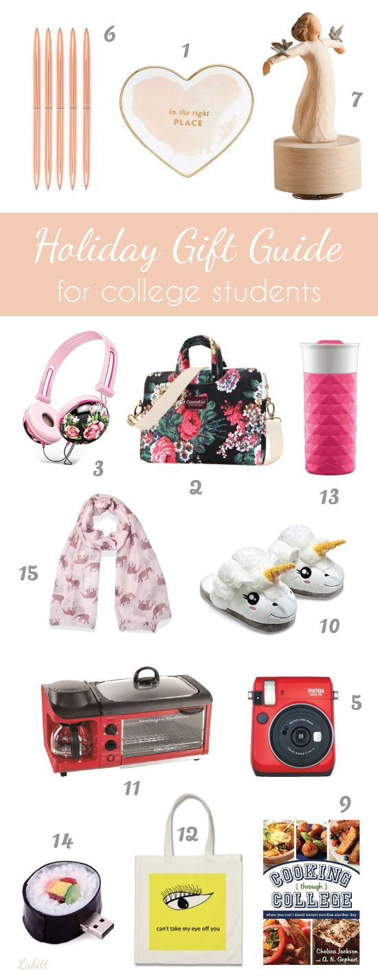 15 stocking stuffers and gifts for college students this holiday season. Christmas gifts for college girls.