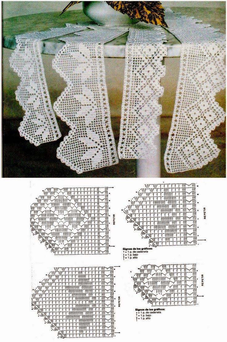 Crochê Tricô - Gráficos: Barrados Lindos … | Pinteres…