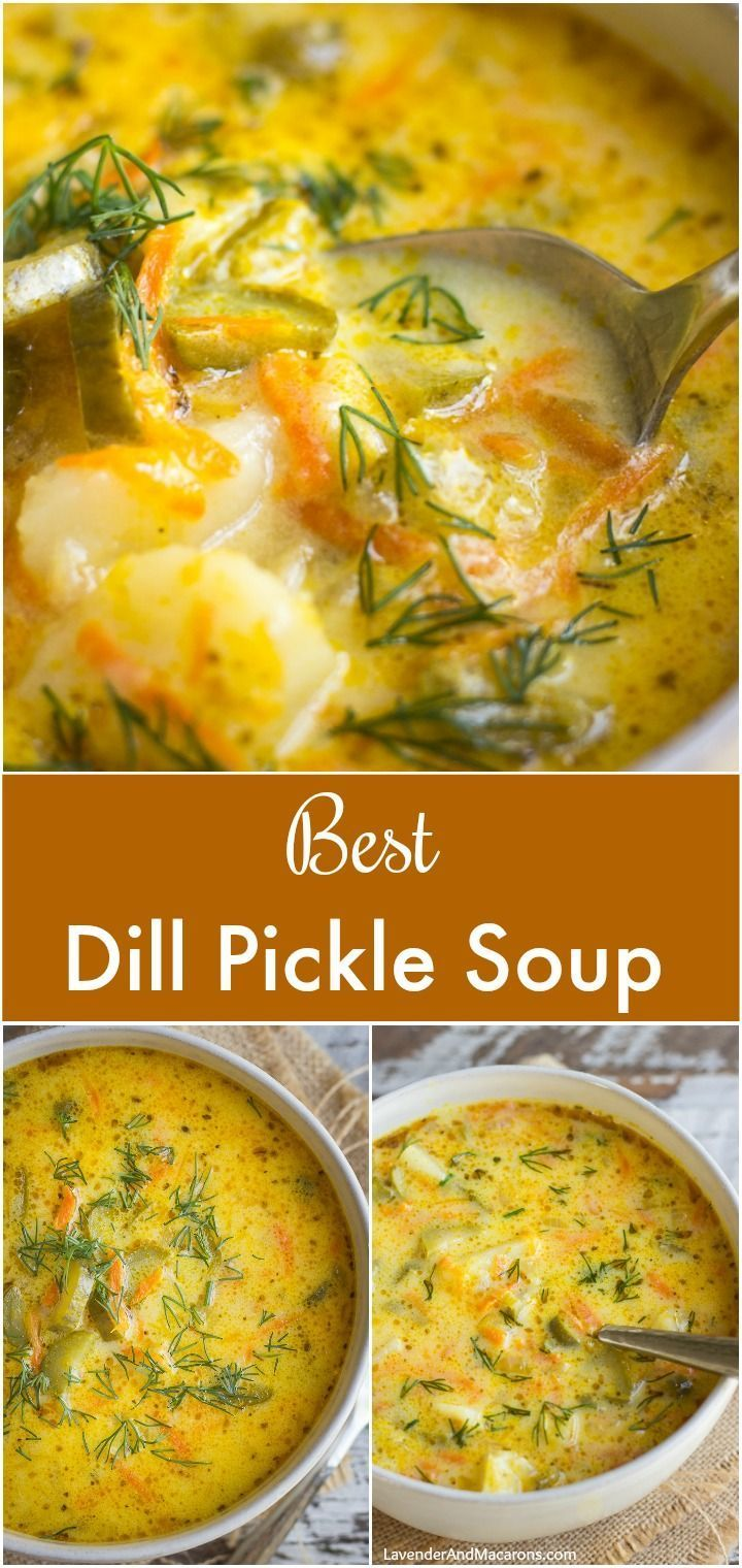 The Most Delicious Dill Pickle Soup