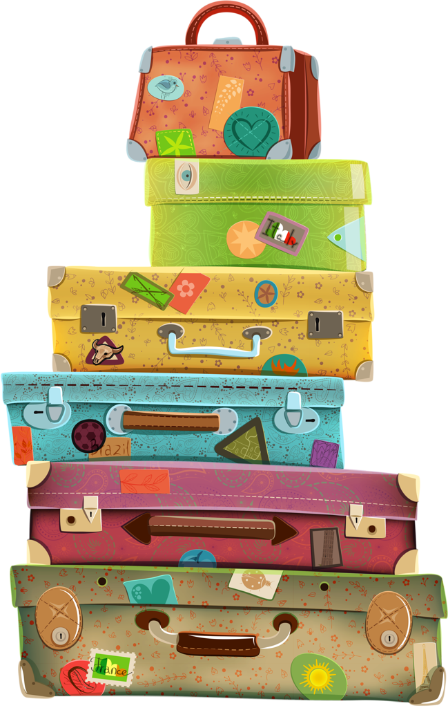 COLORFUL STACK OF LUGGAGE | LUGGAGE | Pinterest