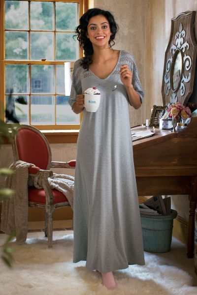 Our Easy Knit Gown features a dreamy-soft feel and dolman sleeves. It s the  perfect way to end your day! b122e8f23