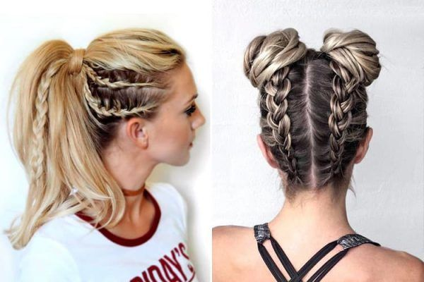Easy Gym Hairstyles Anyone Can Do Gymhairstyles Gymhair Ponytail Braids Braided Summerhair Summe Sporty Hairstyles Sports Hairstyles Running Hairstyles