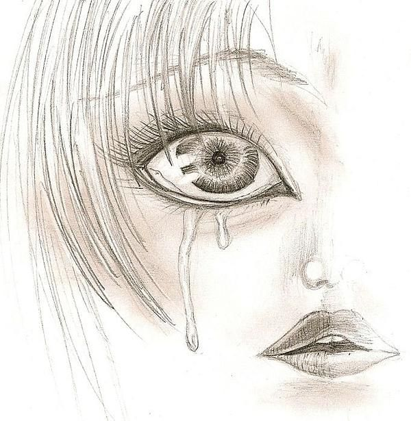 Crying Eye Drawing - Crying | people | Pinterest | She s ...