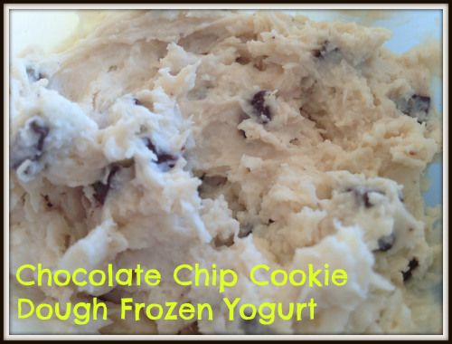 Protein Cookie Dough Frozen Yogurt