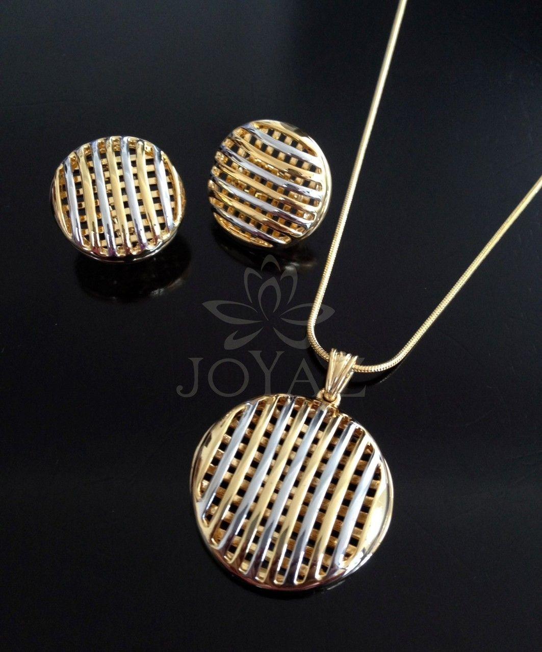 8194b0094f93 Juegos Dije Y Aretes - JOYAZ - Oro platino - Acero Inoxidable ...