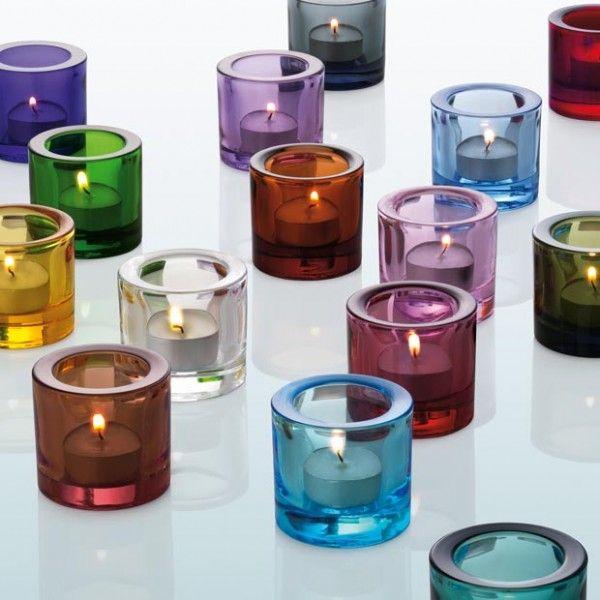 Glass T Light Holders Part - 22: Iittala Kivi Tealight Holders