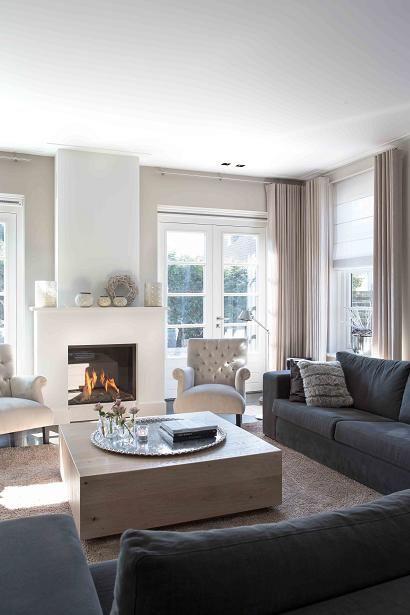 antraciet bank - mooie haard en schouw | kleuren in huis | Pinterest ...