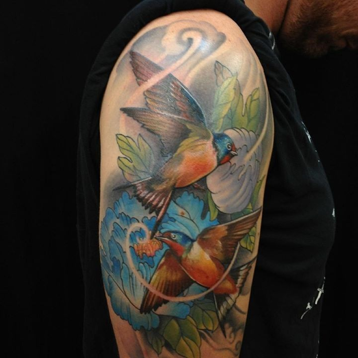 Birds tattoo by leo from funhouse tattoo 20160531