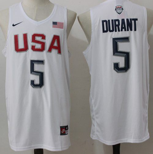 15726a3175f Nike Team USA  5  Kevin  Durant White 2016 Dream Team  StitchedNBAJersey   basketball  basketballneverstop  christmas