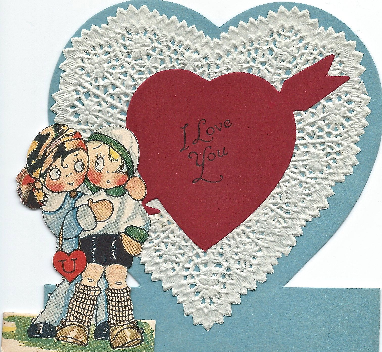 Postcards From FunTown Postcard, Little valentine