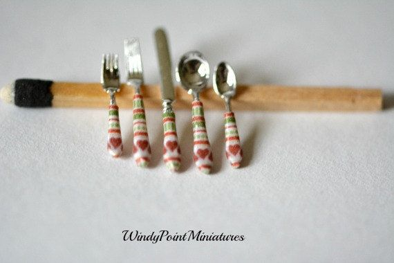 Luxury Flatware in Country Christmas 1 by WindyPointMiniatures, $22.00