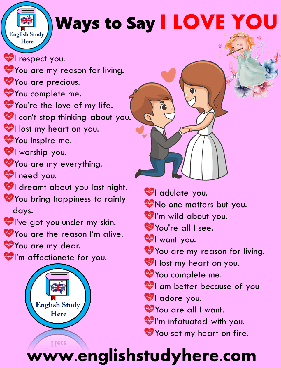 30 Different Ways to Say I LOVE YOU in English - English