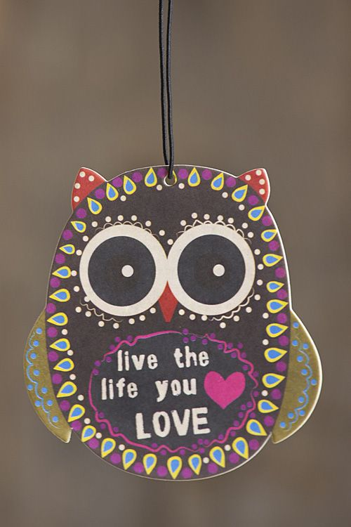 What a Hoot!  Set of 3 ocean scented owl air fresheners... a treat everyone will love!