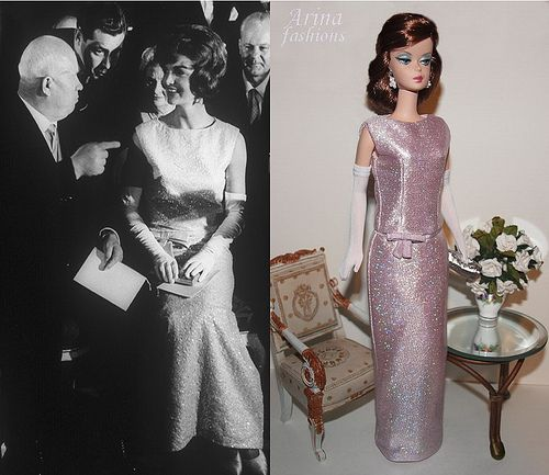 Jacqueline kennedy evening dress vienna barbie and for Cocktail jacqueline