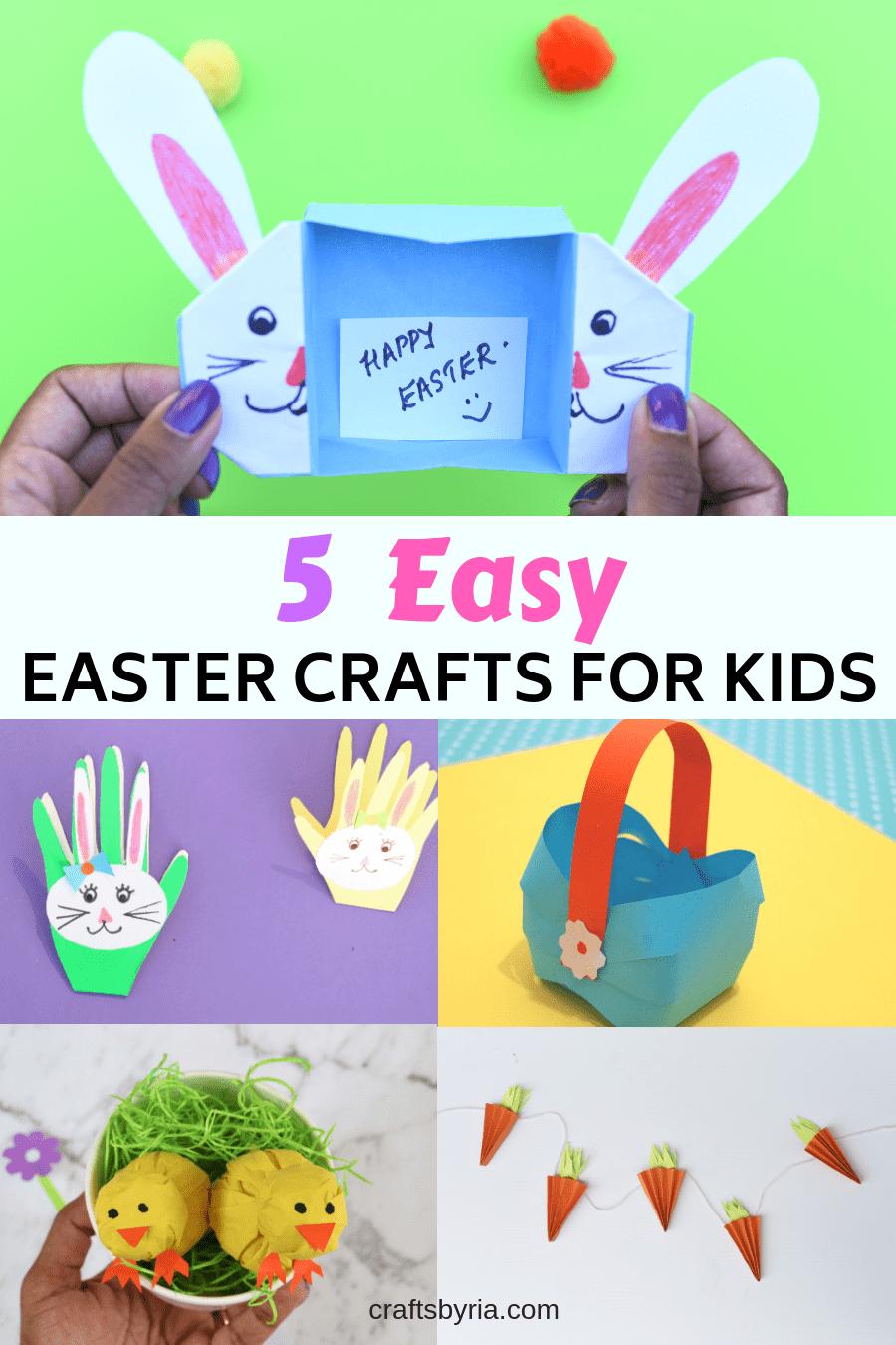 5 Easy Easter Crafts For Kids Easter Easy Easter Crafts Easter