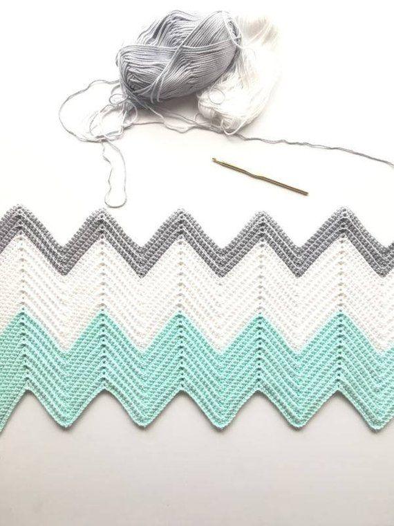 Crochet Chevron Blanket Pattern | Products | Pinterest | Croché ...