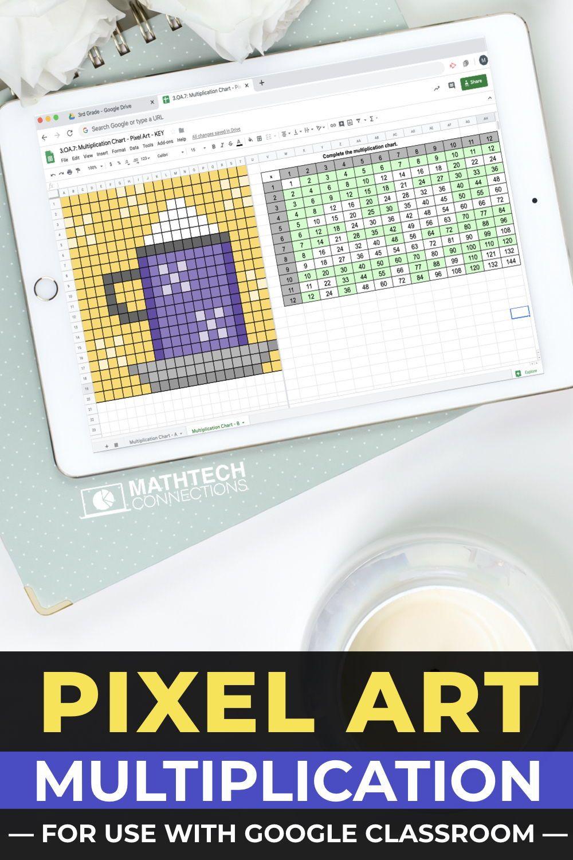 Multiplication Chart Digital Math Pixel Art Mystery