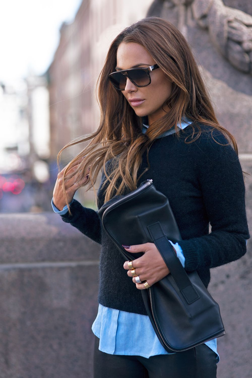 32d5a6755055 Black And Blue Outfits... Does It Work  - Outfit Inspiration ...