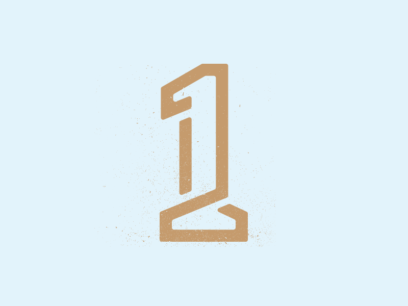 Who S Number 1 Numbers Typography Letter Logo Design One Logo