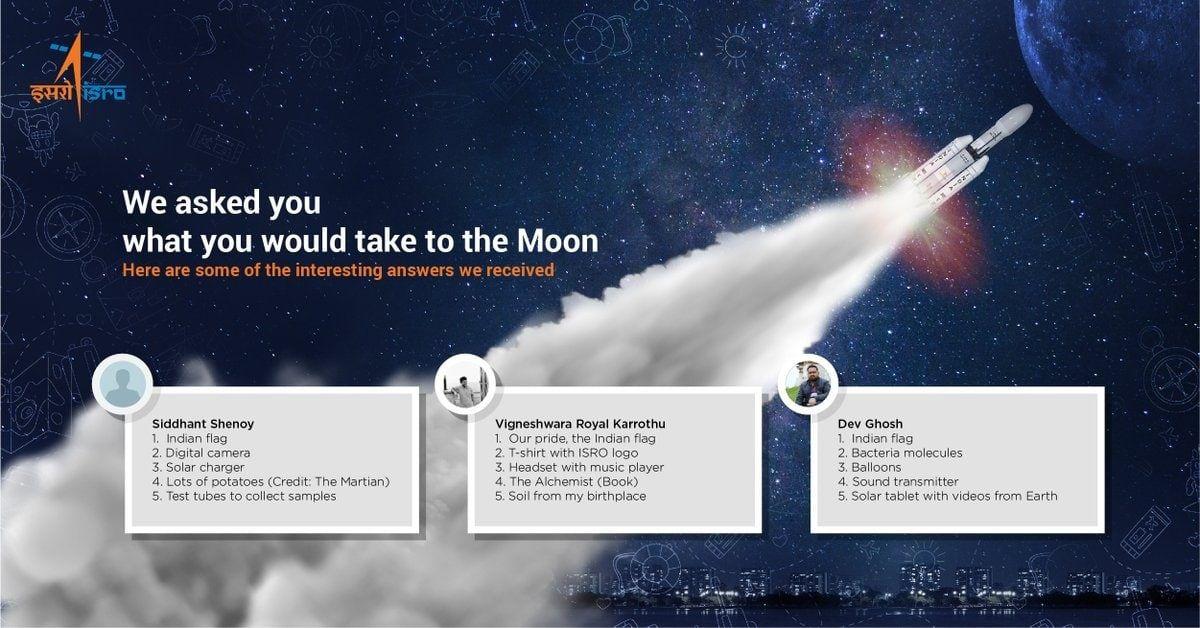 Chandrayaan2 ISRO's Moon Essentials Twitter Quiz Evokes
