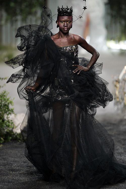 Dior Haute Couture FW2005. Alek Wek