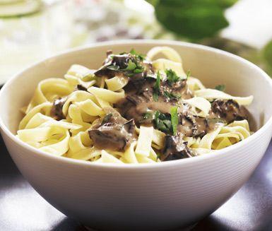 trattkantarell recept pasta