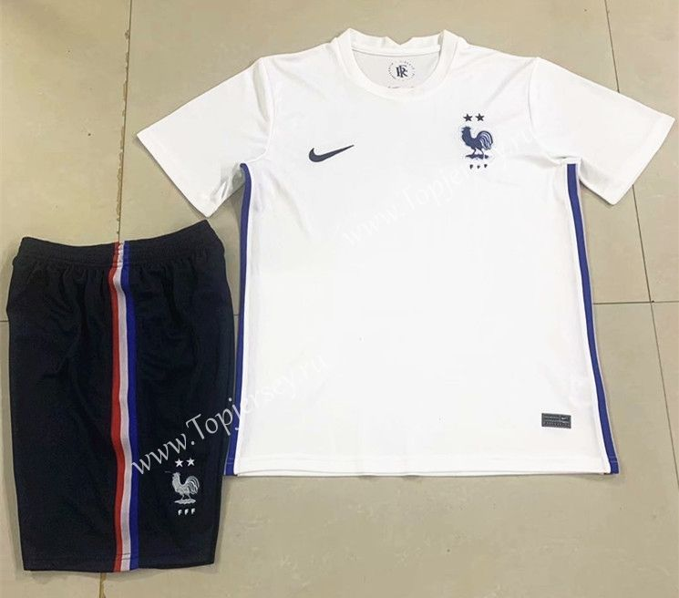 2020 European Cup France Away White Soccer Uniform In 2020 Soccer Uniforms France Football Shirt France Soccer Jersey