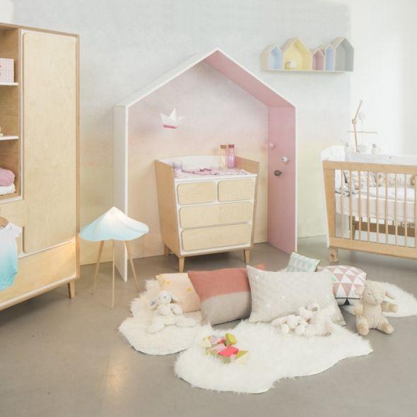 alcove en forme de maison   Baby & Kid   Pinterest   Armoire bébé ...