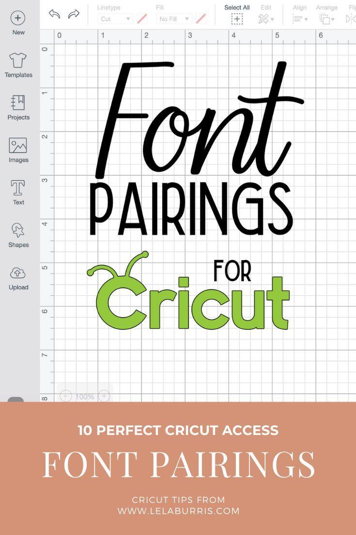 10 Perfect Font Pairings For Cricut Projects | Cricut, Cricut tutorials, Cricut design studio