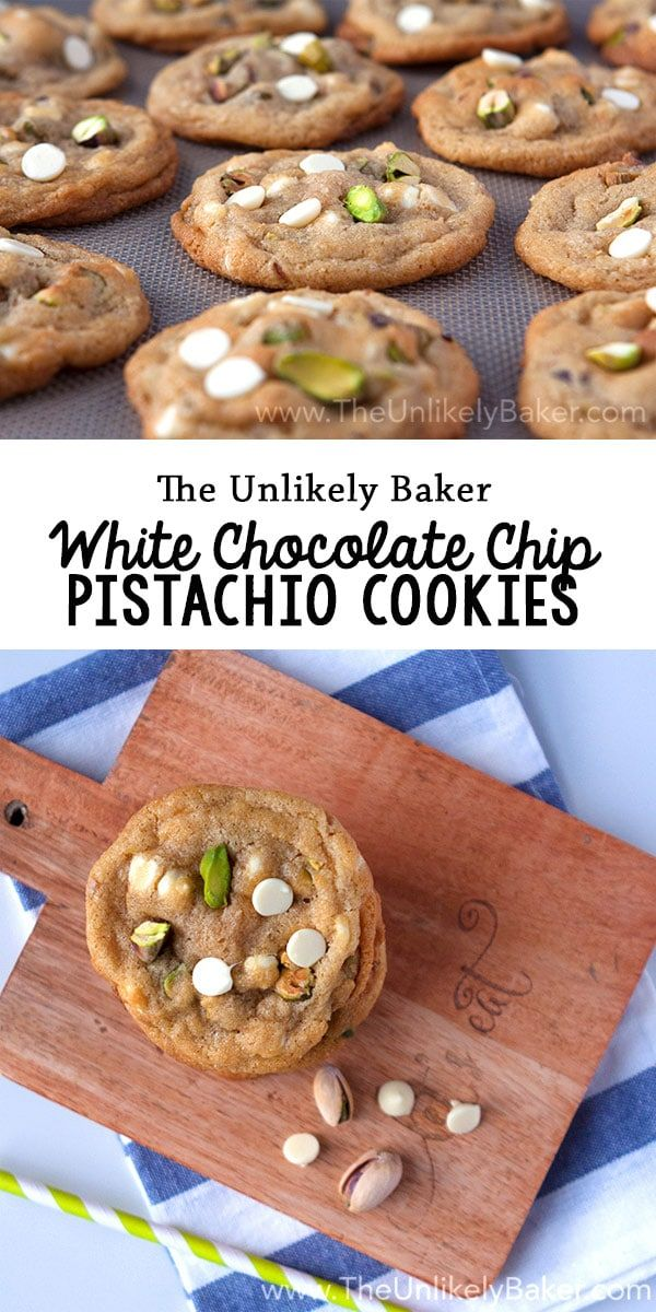 Sweet & salty in one delicious bite – that's what these white chocolate chip pistachio cookies are all about! Meet your new favourite cookie. via @unlikelybaker