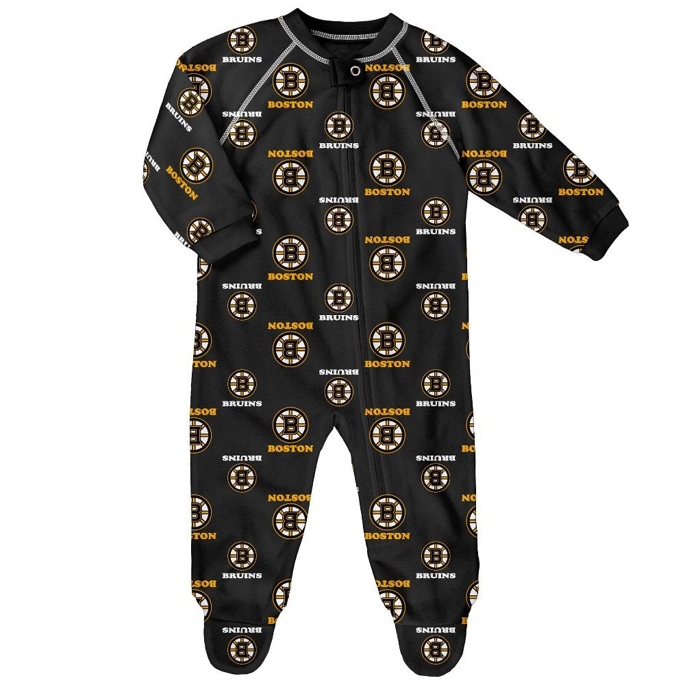 f34c87409 Cheer on the Boston Bruins in style with this official NHL baby blanket  sleeper. This sports apparel set makes your allegiance unmistakable with  all over ...