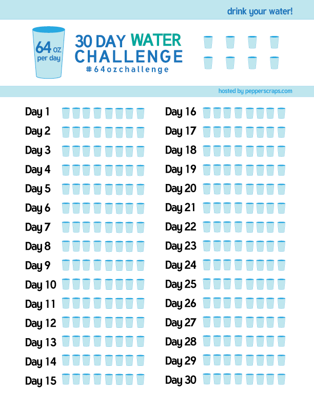 day water challenge  ozchallenge free printable tracker by pepper scraps plus you can join the and get support also healthy life   happy rh pinterest