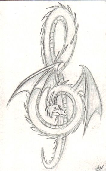 Dragon/ music/ tattoo?