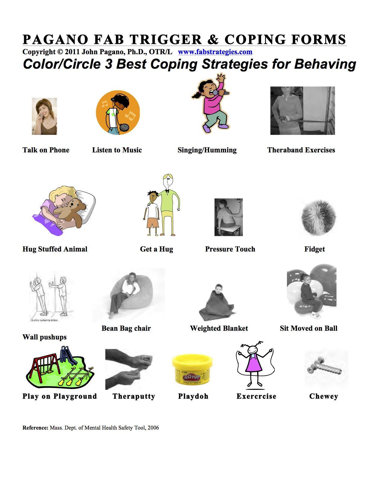 Fab Trigger Amp Coping Strategies Sensory Coping Strategies