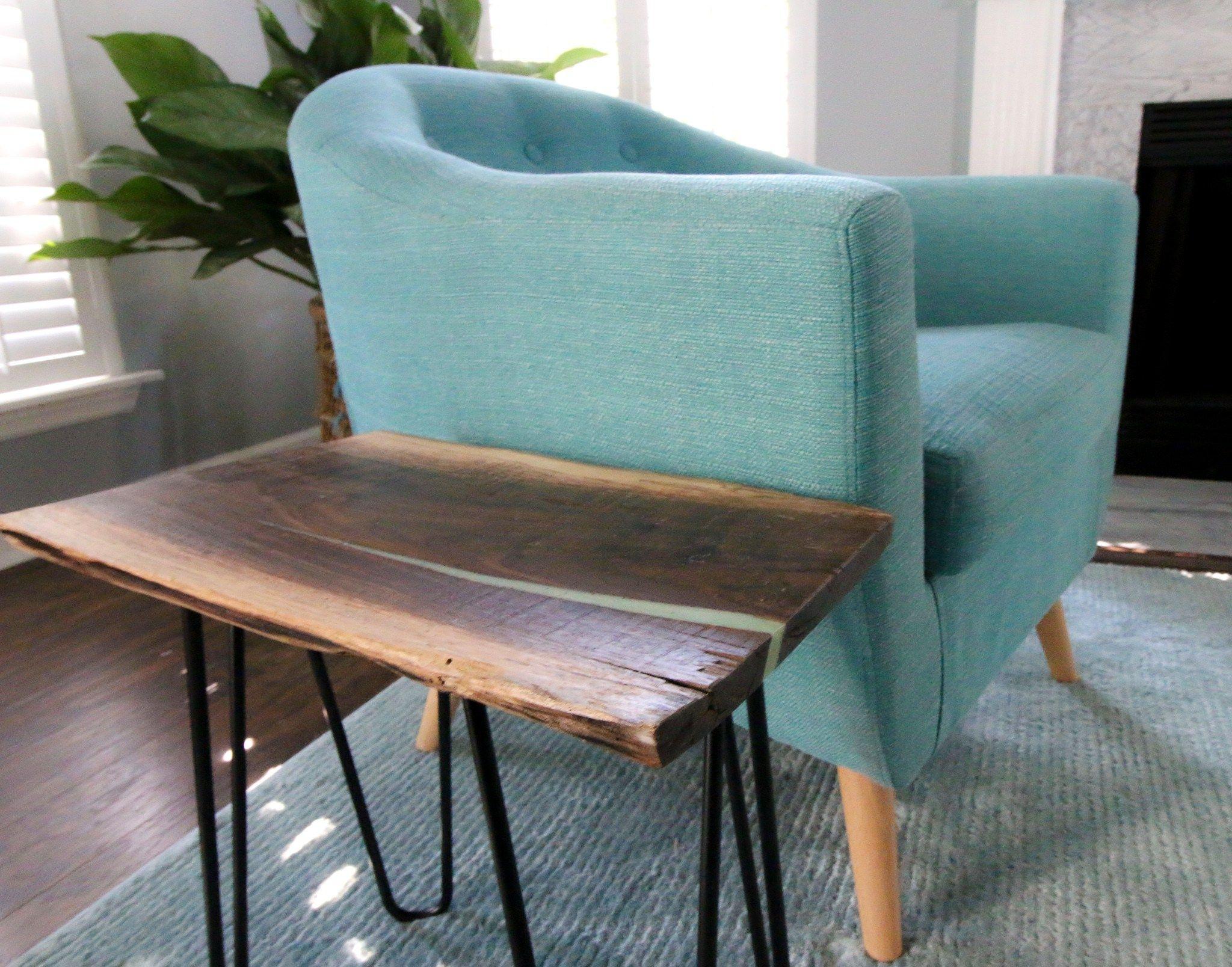 Epoxy Live Edge River Side Table   Hometalk: DIY   Pinterest   Epoxy ...