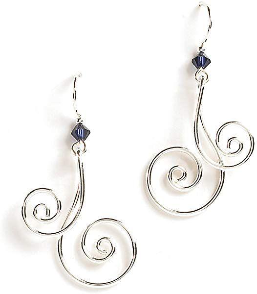 6dc59f8a2 Amazon.com: Jody Coyote Earrings Pirouette Collection WB433SP-01 silver  blue dangle twist JC0923: Jewelry