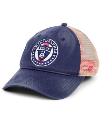 the best attitude 5e549 5db01 Authentic Mls Headwear Philadelphia Union Americana Trucker Snapback Cap -  Blue Adjustable