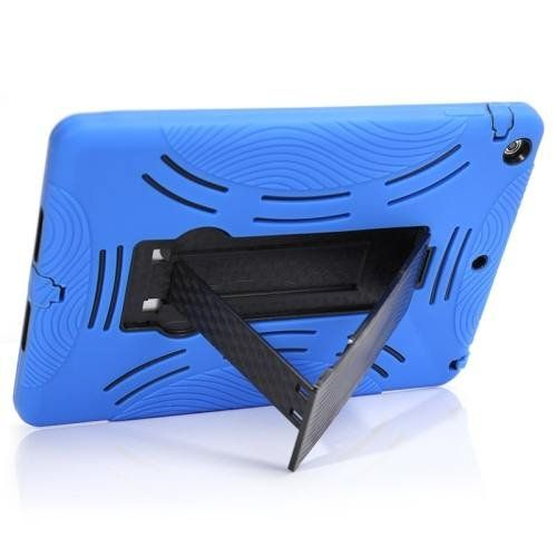 For+iPad+Air+Blue+Robot+Shockproof+Silicone+++Plastic+Combination+Case+with+Holder