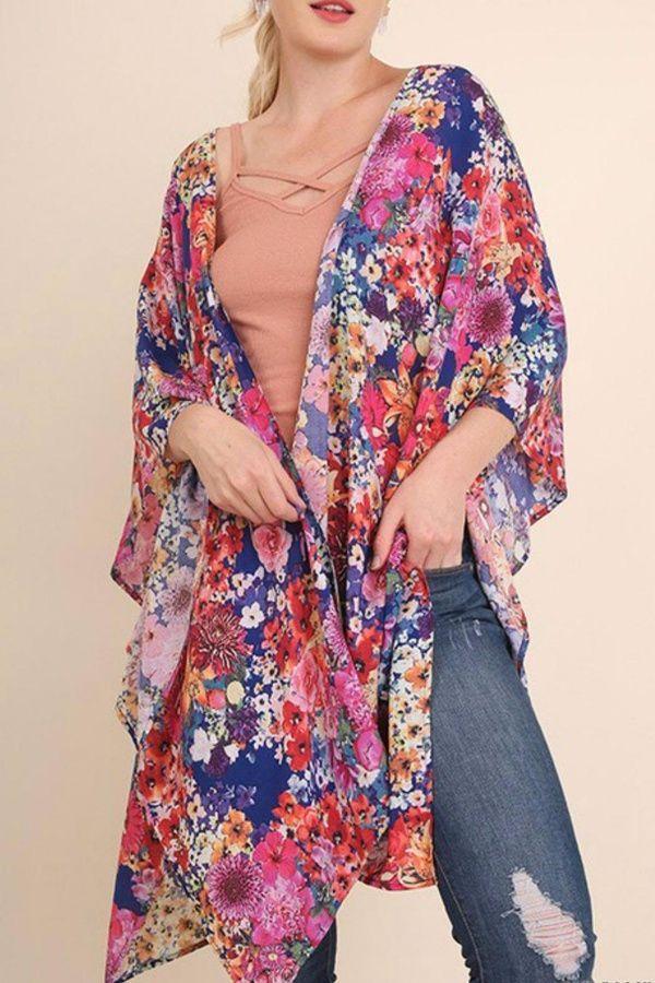 807b133f53c Umgee USA Floral Plus Kimono