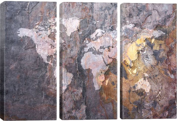 Icanvas world map on stone background canvas canvases stone and icanvas world map on stone background canvas gumiabroncs Gallery