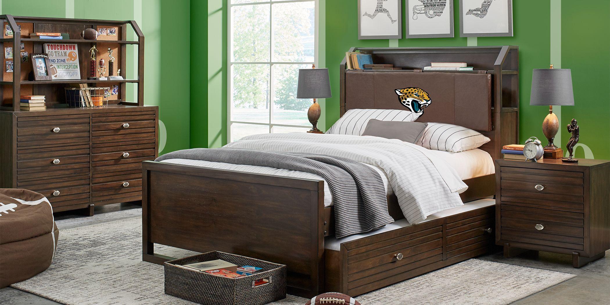 Nfl 1st Goal Jacksonville Jaguars Brown 5 Pc Full Bookcase
