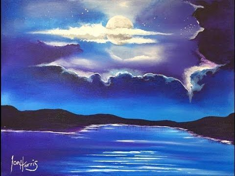 Art Lesson How To Paint A Sky Using Acrylics Youtube